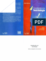 Introduccion a La Suicidologia