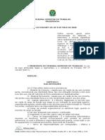 Patrimônio e Normas Específicas Para Livros No TST