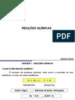 Reações Químicas III