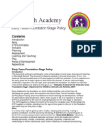 EarlyYears FoundationStage Policy