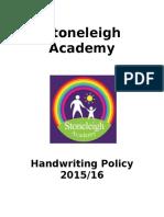 Handwriting Policy 2015 FINAL