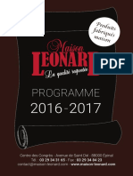 Catalogue 2016-2017 Maison Léonard