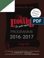 Catalogue 2016/2017 Gabiotte, Maison Léonard