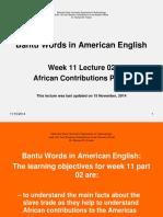 Bantu Words in American English