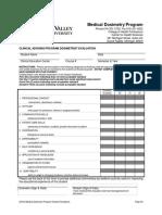 medical dosimetry program student handbook- clinical advising eval of st