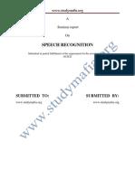 Ece Speech Recognition Report