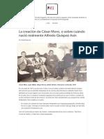 Rafael Ramirez.La creación de César Moro, o sobre cuándo nació Alfredo Quispez.pdf