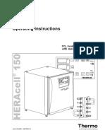 User Manual - Heraeus - Heracell 150 - Rev. d - 50075549_d_englisch