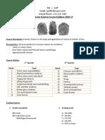 forensics syllabus