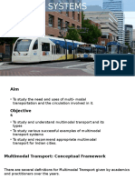 Multimodal Transport Systems