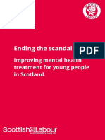 Ending the scandal - Improving mental health treatment for young people in Scotland
