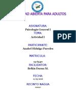 Unidad i Psicologia General i Anabel Hidalgo Paredes