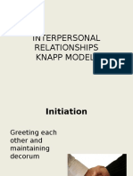 Interpersonal Relationships - Knapp Model
