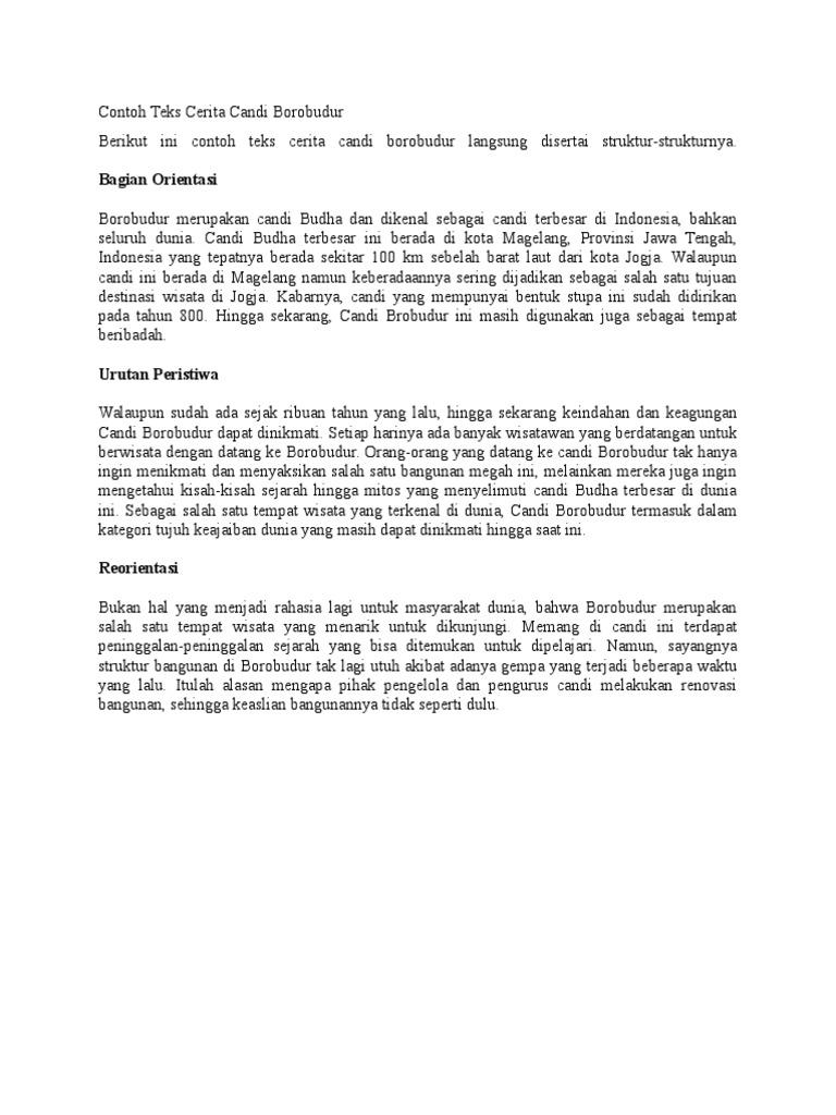 Contoh Teks Candi Borobudur Docx
