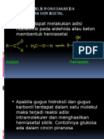 Struktur Siklik Monosakarida Pembentukan Hemiasetal