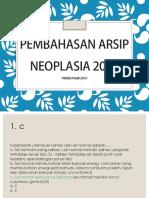 Pembahasan Arsip Neoplasia 2013