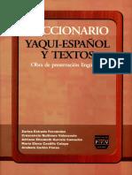 Diccionario Yaqui - Espanol y Textos