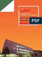UST Admission Guidelines for Spring Semester 2017.pdf