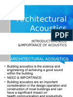 Architectural Acoustics.
