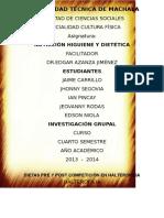 Dietas Pre y Post Competencia en Halterofilia