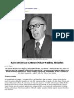 Karol Wojtyla y Antonio Millán-Puelles, Filósofos