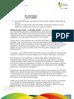 27 05 2011 - El gobernador Javier Duarte de Ochoa solicita  acercamiento con el Congreso de la Unión y la Cámara de Senadores durante la XLI Reunión Plenaria de la Conferencia Nacional de Gobernadores (CONAGO)