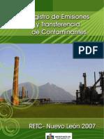 Registro de Emisiones y Transferencia de Contaminantes (RETC)
