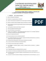 Banco de Preguntas Concurso de Meritos y Oposicion