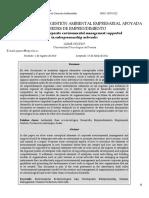 7. Osorio (2011). Aproximación a La Gestión Ambiental Empresarial Apoyada en Redes de Emprendimiento