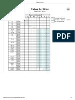 Catalogo de tubos de acrílico