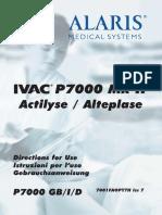 Alaris IVAC P7000 - User Manual Gb-De