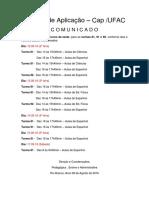 Avisos - Estágio de Espanhol - 08.09.16