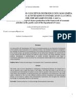 Osorio (2013) Reflexión Sobre Los Conceptos de Producción Más Limpia