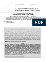1.Roa-garcía &Pulido-roso (2014) El Reto de La Equidad Urbana-rural en El Acceso Al Agua de Uso Doméstico en Colombia