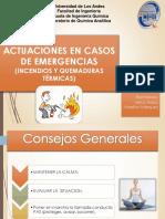 Actuaciones en Casos de Emergencias