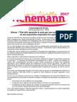 Communiqué de presse Lienemann 2017 sur Alstom le 8 septembre 2016
