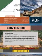 Exposicion Geologia de Minas Layteraione y Exploracion