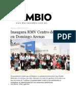 07-09-2016 Diario Cambio - Inaugura RMV Centro de Salud en Domingo Arenas