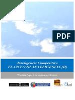 Inteligencia Competitiva. EL CICLO DE INTELIGENCIA (II)