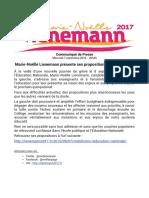 Communiqué de presse Lienemann 2017 - propositions sur l'éducation - 7 septembre 2016