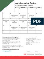 NIC Monthly Event Calendar