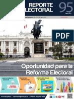 Reporte Electoral N.° 95, correspondiente al mes de agosto de 2016