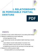 Occlusal Relationship in Rpd Prostho