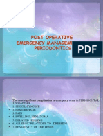 Post Operative Emergency Management in Periodontics Peio