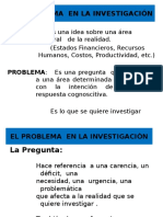 El Problema en La Investigaci n