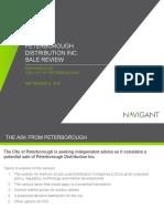 Navigant report on PDI sale