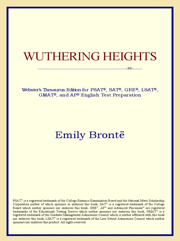 Wuthering Heights (Webster's Thesaurus).pdf | Copyright | Wuthering Heights