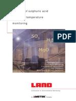 Beneficios Del Monitoreo Del Punto de Rocio de Acido Sulfurico