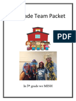 5th grade team packet