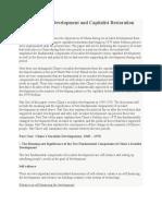 Pao Yu Soc Development and Cap Resoration